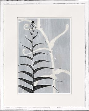 Picture of Botanical Overlay - Grey VI - Small