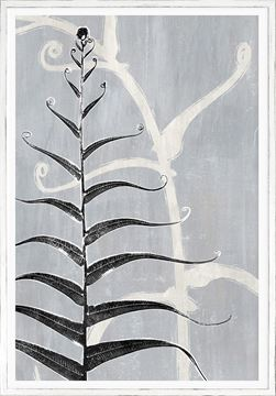Picture of Botanical Overlay - Grey VI - Large