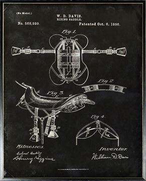 Picture of Patent - Riding Saddle Oct. 6, 1896  Large