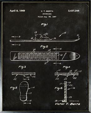 Picture of Patent - Snowboard Aug. 28, 1967 Large