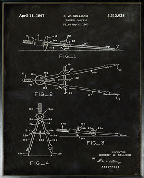 Picture of Patent - Drawing Compass Large