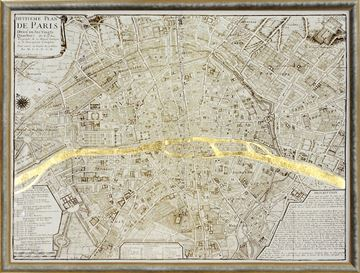 Picture of Map - Paris Gilded