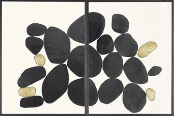 Picture of Black Balance Diptych
