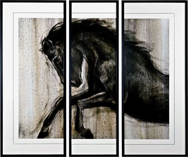 Picture of Dynamic Stallion II Triptych