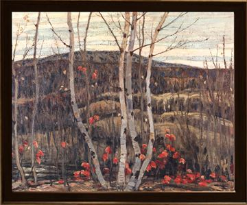 Picture of Maple & Birches - Framed on Board