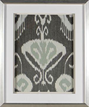 Picture of Greyed Aqua Ikat I