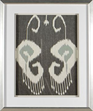 Picture of Greyed Aqua Ikat II