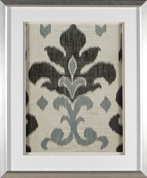 Picture of Greyed Aqua Ikat III