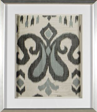 Picture of Greyed Aqua Ikat IV