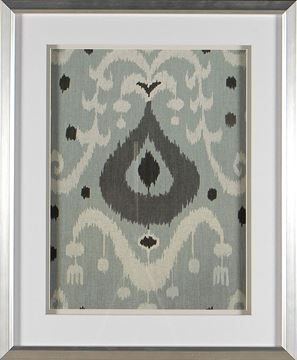 Picture of Greyed Aqua Ikat V