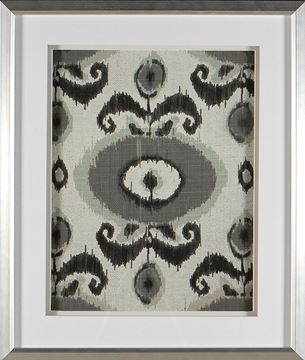 Picture of Greyed Aqua Ikat VI