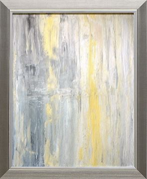 Picture of Abstract Series Yellow Grey II - Framed on Board