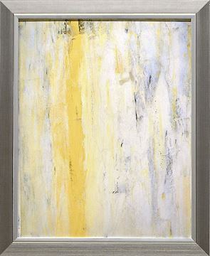 Picture of Abstract Series Yellow Grey III - Framed on Board