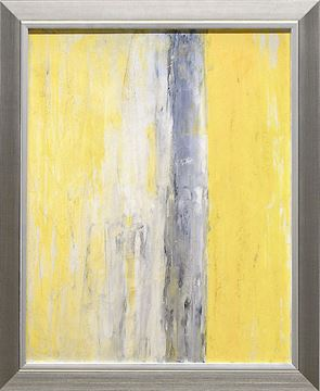 Picture of Abstract Series Yellow Grey IV - Framed on Board