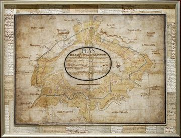 Picture of Map-Circonvallation De Paris, 1789