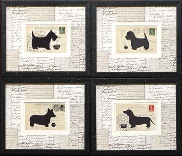 Picture of Postcard Dogs S/4