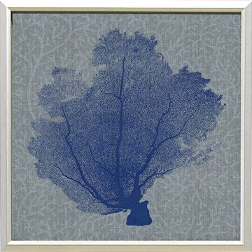 Picture of Corals On Grey - Blue I