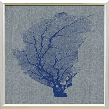 Picture of Corals On Grey - Blue II