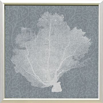 Picture of Corals On Grey - White I
