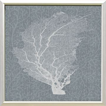 Picture of Corals On Grey - White II