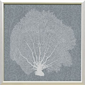 Picture of Corals On Grey - White III