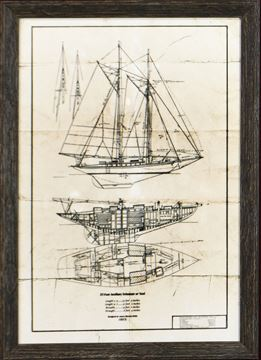 Picture of Schooner On Parchment