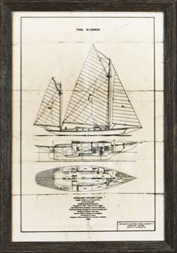 Picture of Cruising Yawl On Parchment