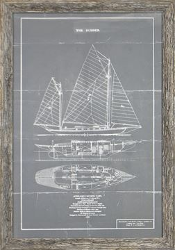 Picture of Cruising Yawl On Grey