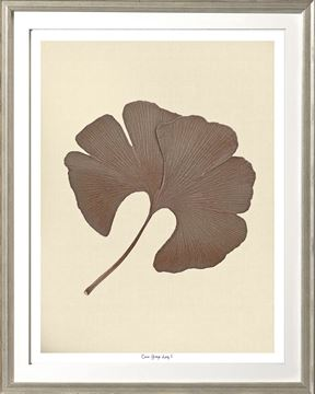 Picture of Cocoa Ginkgo Leaf I Sml