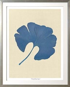 Picture of Indigo Ginkgo Leaf I Lge
