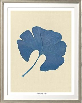 Picture of Indigo Ginkgo Leaf I Sml