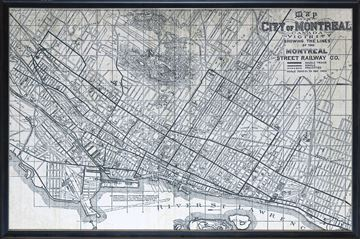 Picture of Map - City Of Montreal - 1901