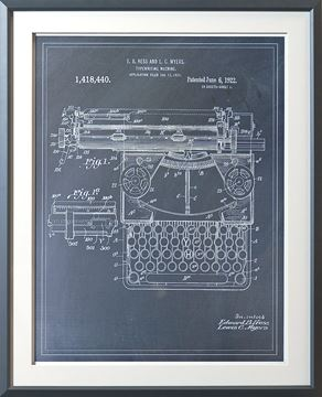 Picture of Typewriting Machine Patent II