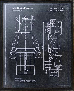 Picture of Lego Man Patent - Charcoal