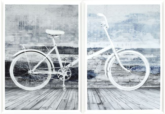 Picture of Bicyclette Blanche - Diptych