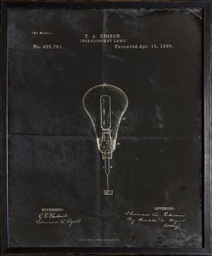 Picture of Edison Patent, 1890