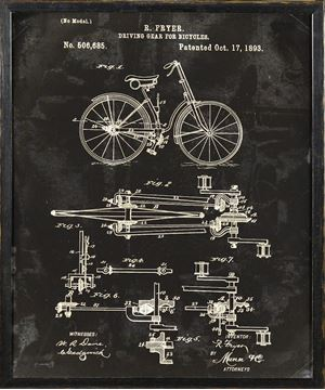 Picture of Bicycle Patent, 1893