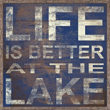 Picture of Life Is Better At The Lake - Cobalt