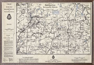Picture of Map Of Haliburton - 1935