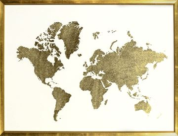 Picture of Gold Foil World Map