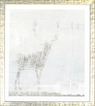 Picture of Deer Silhouettes - Taupe I