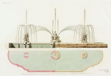 Picture of Acrylic-Velazquez Fountain Elevation I