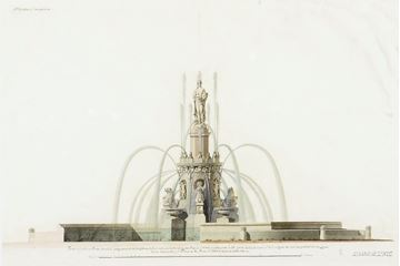 Picture of Acrylic-Velazquez Fountain Elevation IV