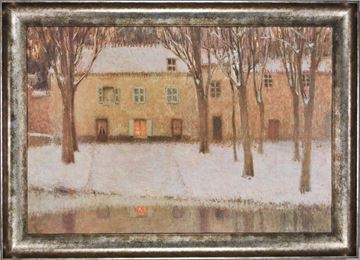 Picture of Bord De L'Eau  - Framed Canvas
