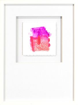 Picture of Watercolor Series - Magenta I (White)