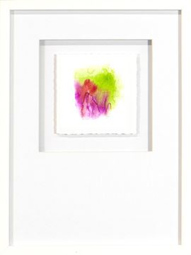 Picture of Watercolor Series - Magenta III (White)