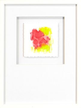 Picture of Watercolor Series - Magenta IV (White)