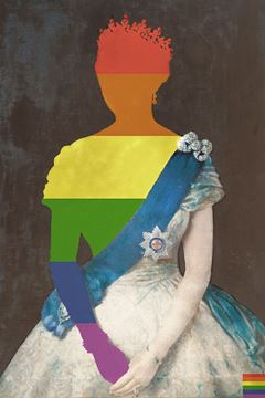 Picture of Rainbow Queen - Gallery Wrap Canvas