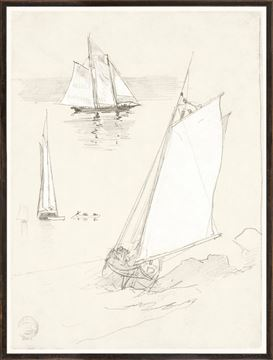 Picture of Collection 07 - Homer - Three Schooners - 1880
