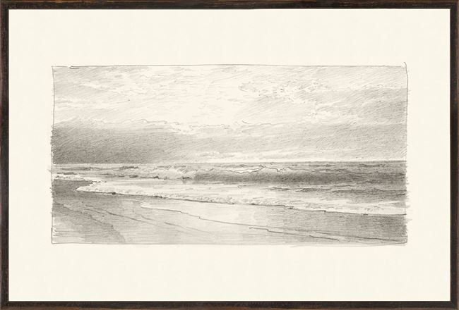 Picture of Richards - Folio, Graphite Seascape II - 1870